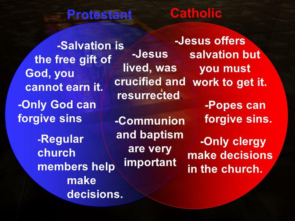 Church Differences: Protestant vs Catholic