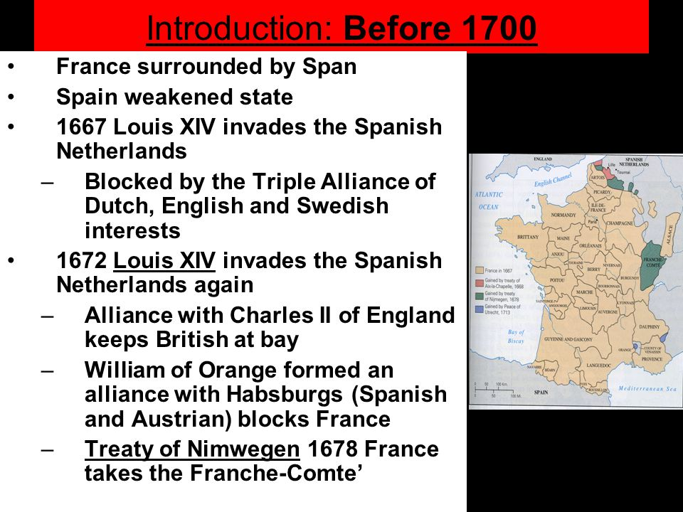 Confirmation of the European system –Powers accepted each other as members of the system –Recognized each other as sovereign states free to negotiate, make war, and treaties –adjusted balance of power through exchange of territories (third party territories?) Leaves France and England as the two major powers to export Europe to the world Consequences of the war