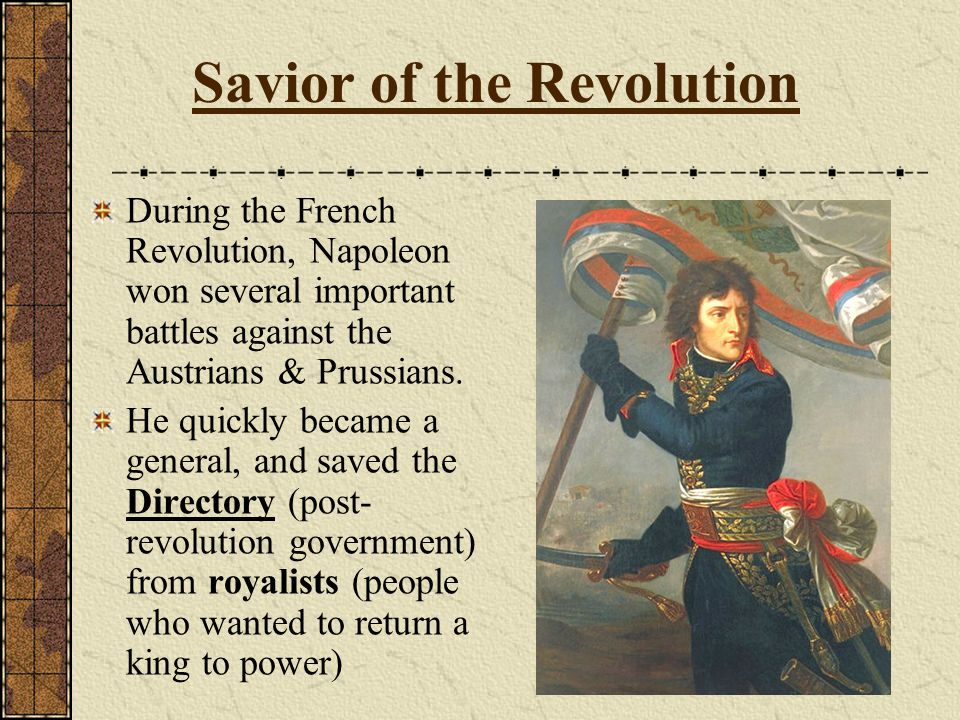 Napoleon Seizes Power In 1799, a popular Napoleon launches a Coup d'Etat (sudden seizure & overthrow) on the weak and corrupt Directory.