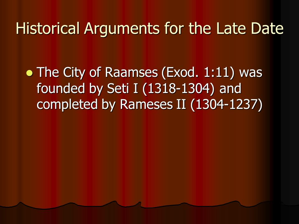 The City of Raamses (Exod.