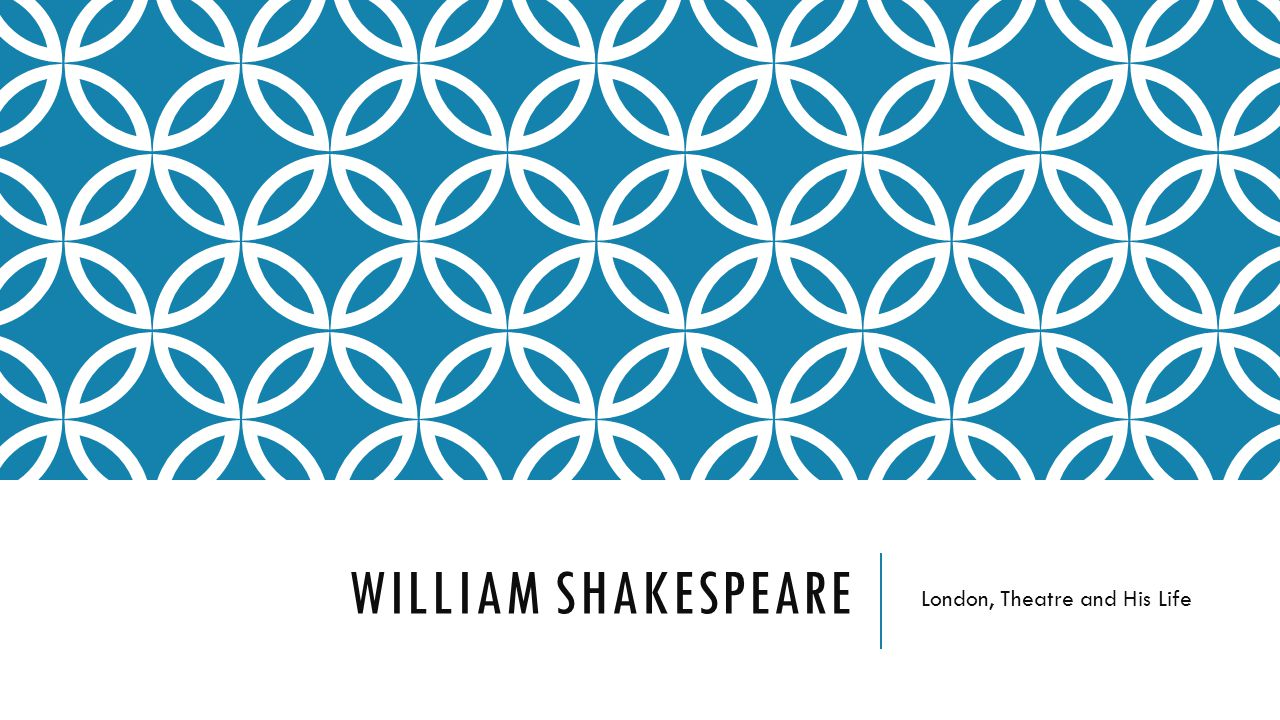 WILLIAM SHAKESPEARE London, Theatre and His Life