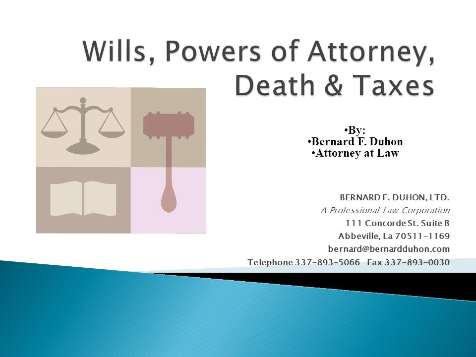 BERNARD F. DUHON, LTD. A Professional Law Corporation 111 Concorde St.
