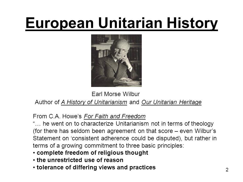 23 Unitarianism in England European Unitarian History