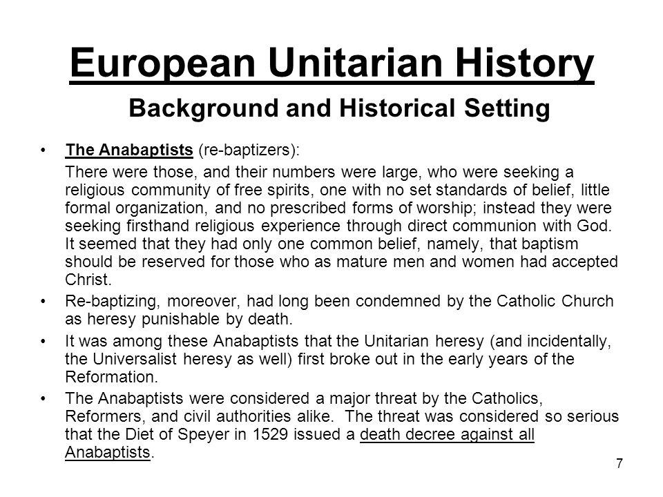 18 That the Socinians sought haven among the Unitarians was not surprising, for links between the two groups had existed almost from the beginning: both initially had been influenced by the writings of Michael Servetus; and Faustus Socinus had come to Transylvania to mediate an internal doctrinal dispute back in 1578.