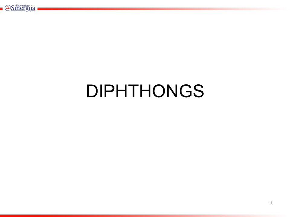 DIPHTHONGS 1
