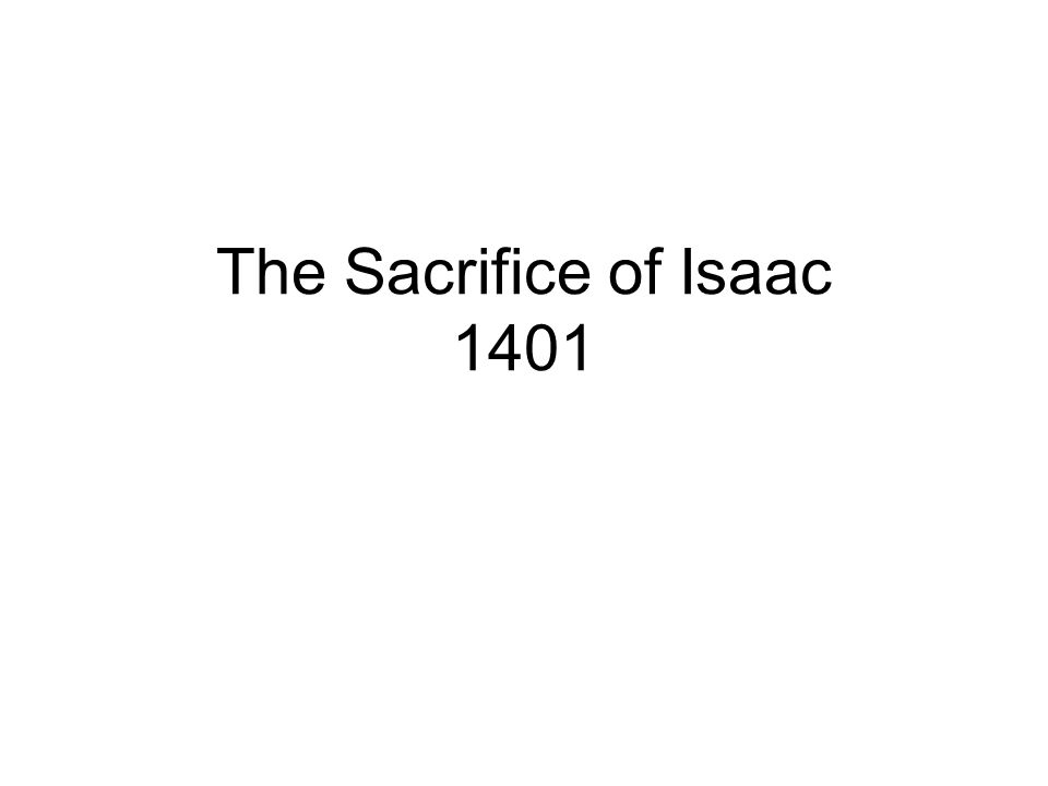 The Sacrifice of Isaac 1401