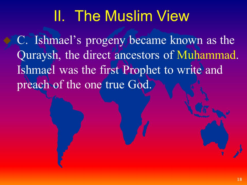 18 II. The Muslim View u C.