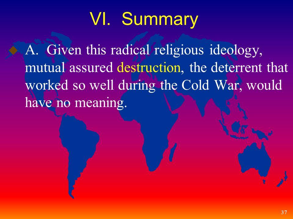 37 VI. Summary u A.