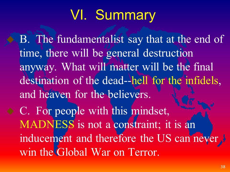 38 VI. Summary u B.