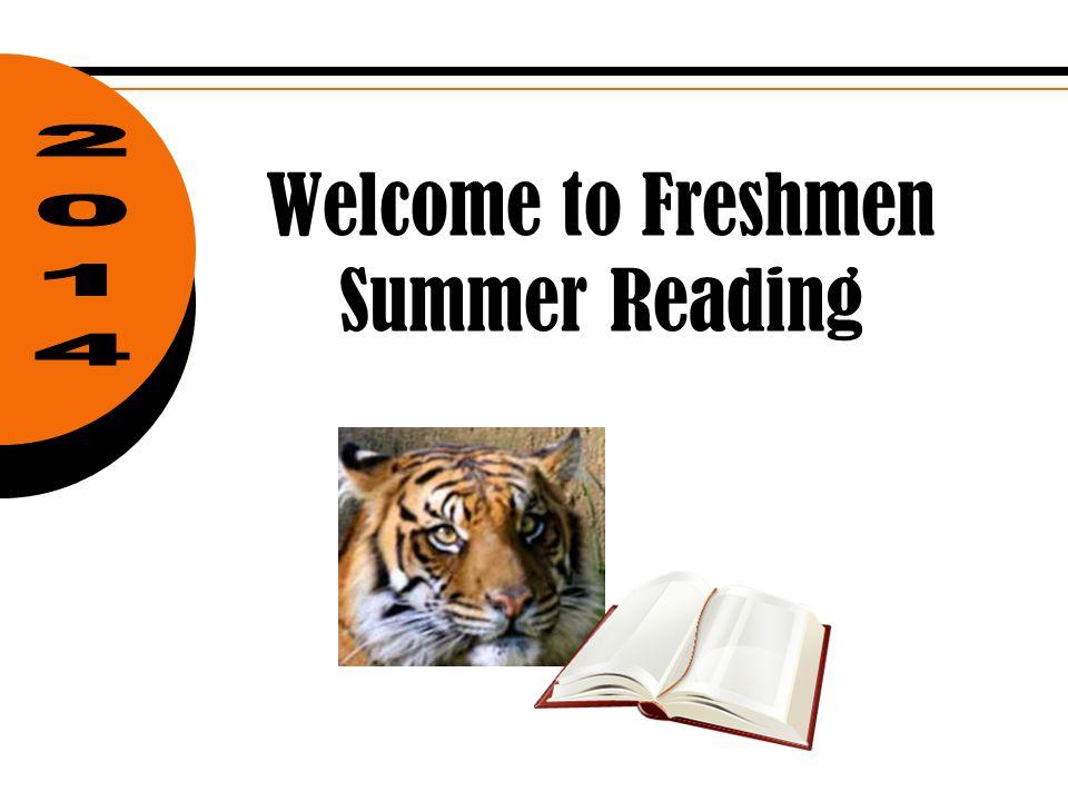 Welcome to Freshmen Summer Reading