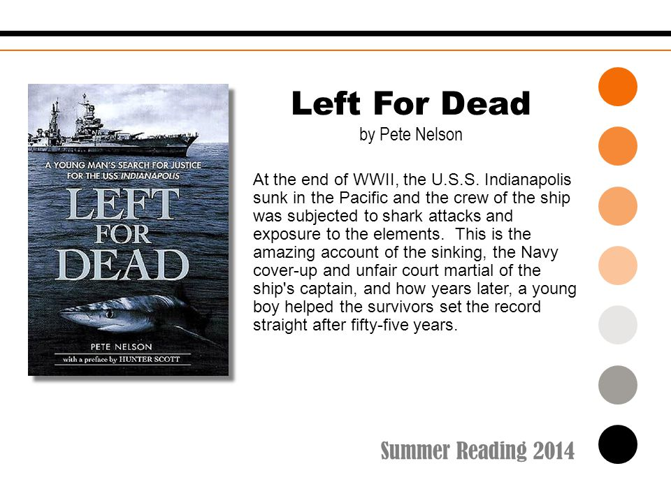 Summer Reading 2014 At the end of WWII, the U.S.S.