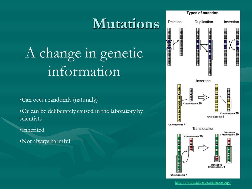 Natural Mutations