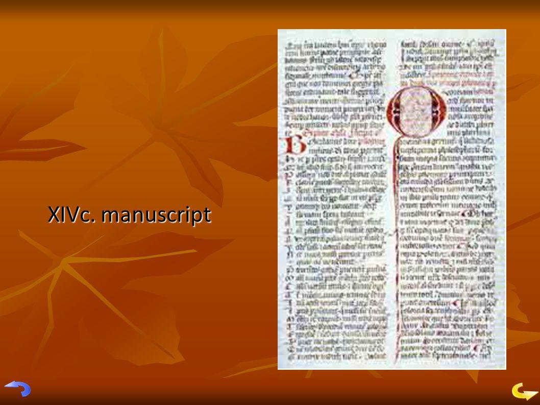 XIVc. manuscript