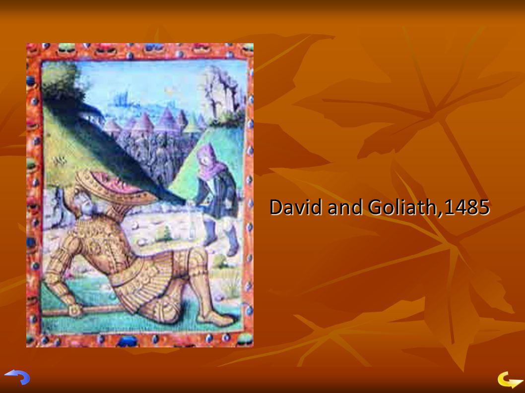 David and Goliath,1485