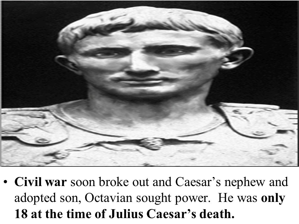 The Second Triumvirate packed the senate with their supporters which declared Caesar to be a god.