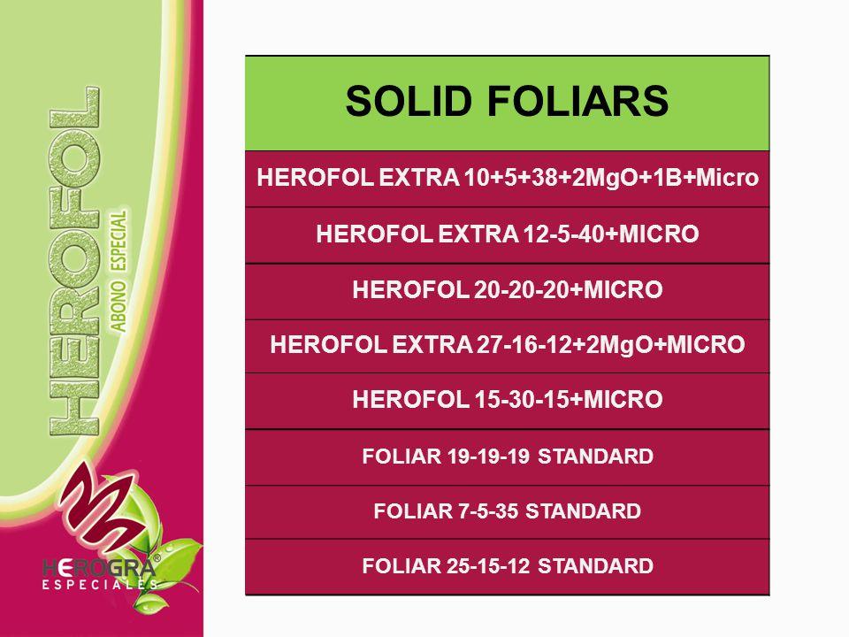 HEROFOL DENSE GREEN 28-11-14+MICRO HEROFOL DENSE RED 10-5-30+MICRO HEROFOL DENSE BALANCED 18+17+18+MICRO HEROFOL DENSE PHOSPHATED 10+30+10+MICRO