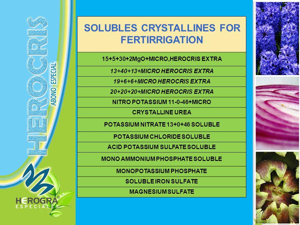 LIQUIDS-PACKED FOR FERTIRRIGATION EUROFOSFATO 12/60 NITRIC ACID FOR AGRICULTURE PHOSPHORIC ACID FOR AGRICULTURE LIQUID CALCIUM NITRATE 11,2+0+0+22,4(%