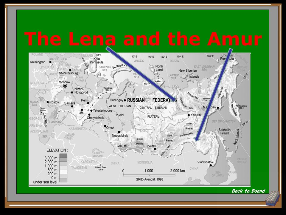 2 major rivers in the eastern territories of Russia Show Answer