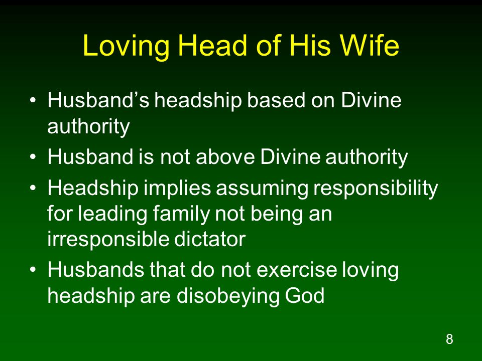 39 Reverently Submit To Her Husband Eph 5:33 Nevertheless, each individual among you also is to love his own wife even as himself, and the wife must see to it that she respects her husband.
