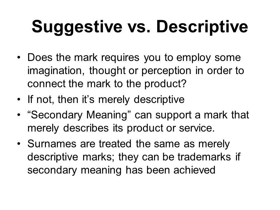 Suggestive vs.