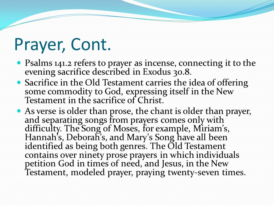 Prayer, Cont.