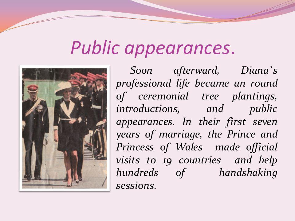 Public appearances.