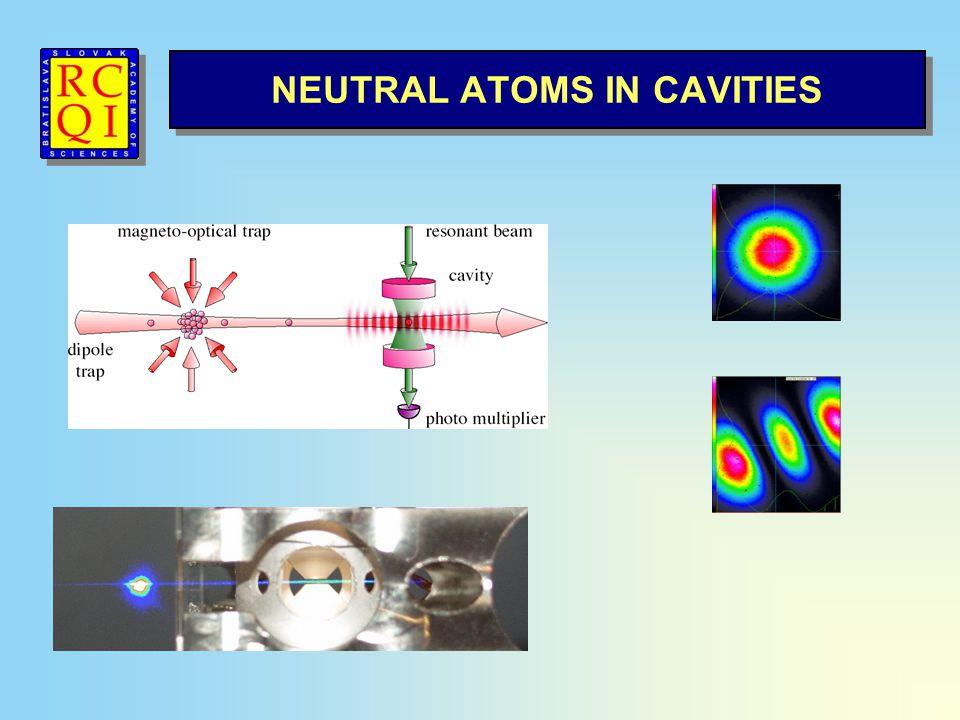 NEUTRAL ATOMS IN CAVITIES