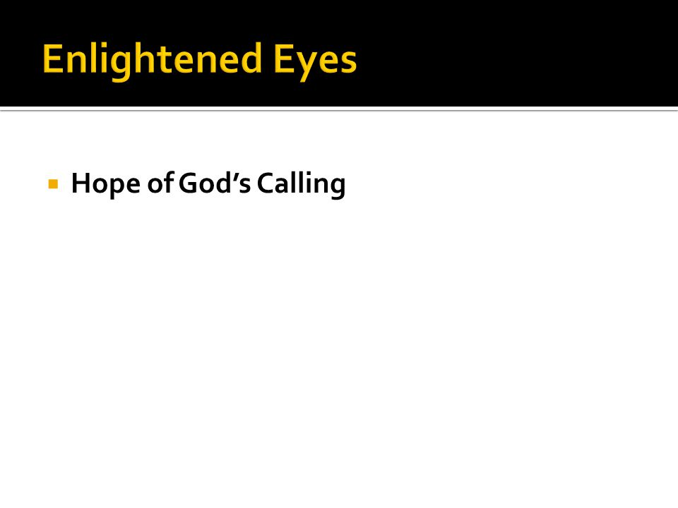  Hope of God's Calling