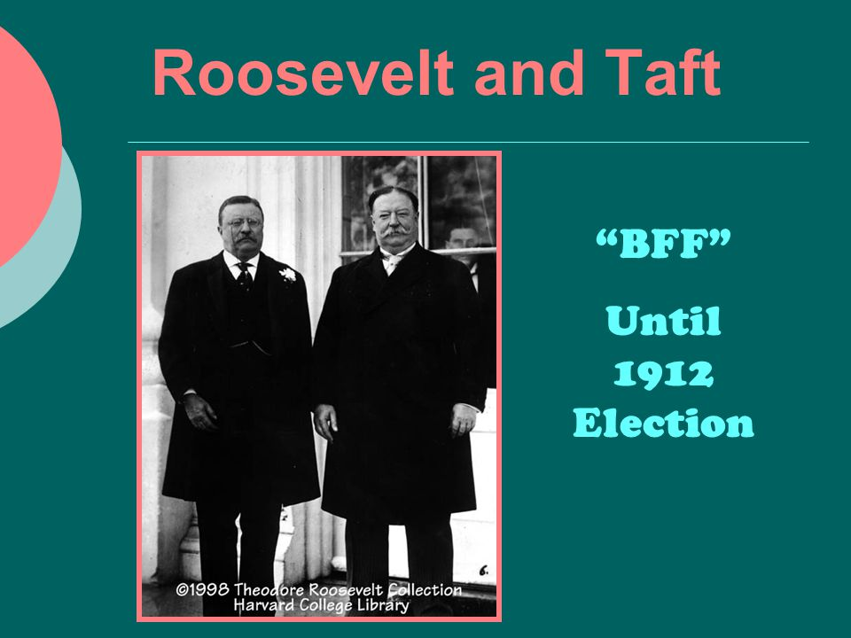 "Roosevelt and Taft ""BFF"" Until 1912 Election"