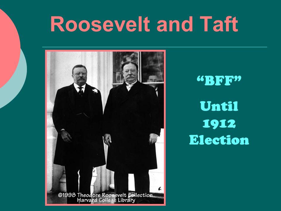 Roosevelt and Taft BFF Until 1912 Election