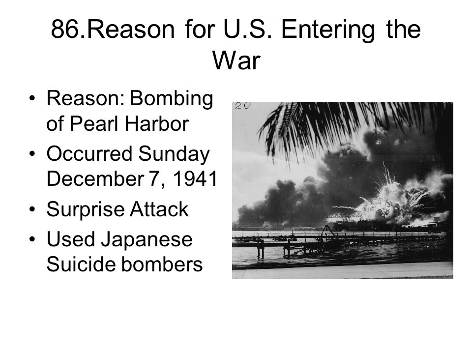 86.Reason for U.S.