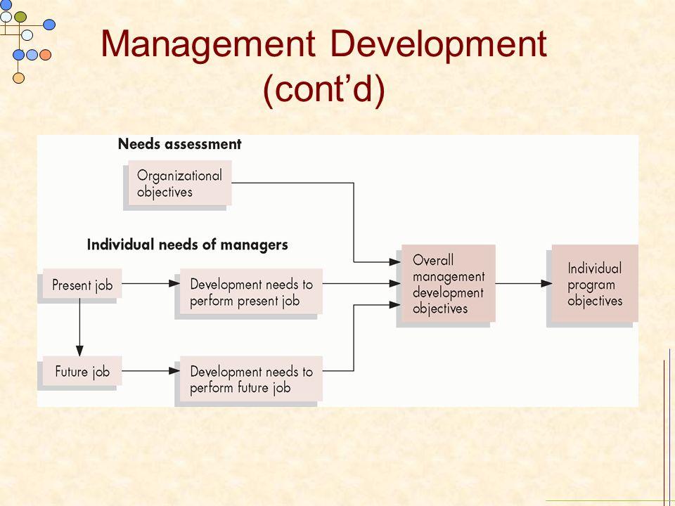 Management Development (cont'd)