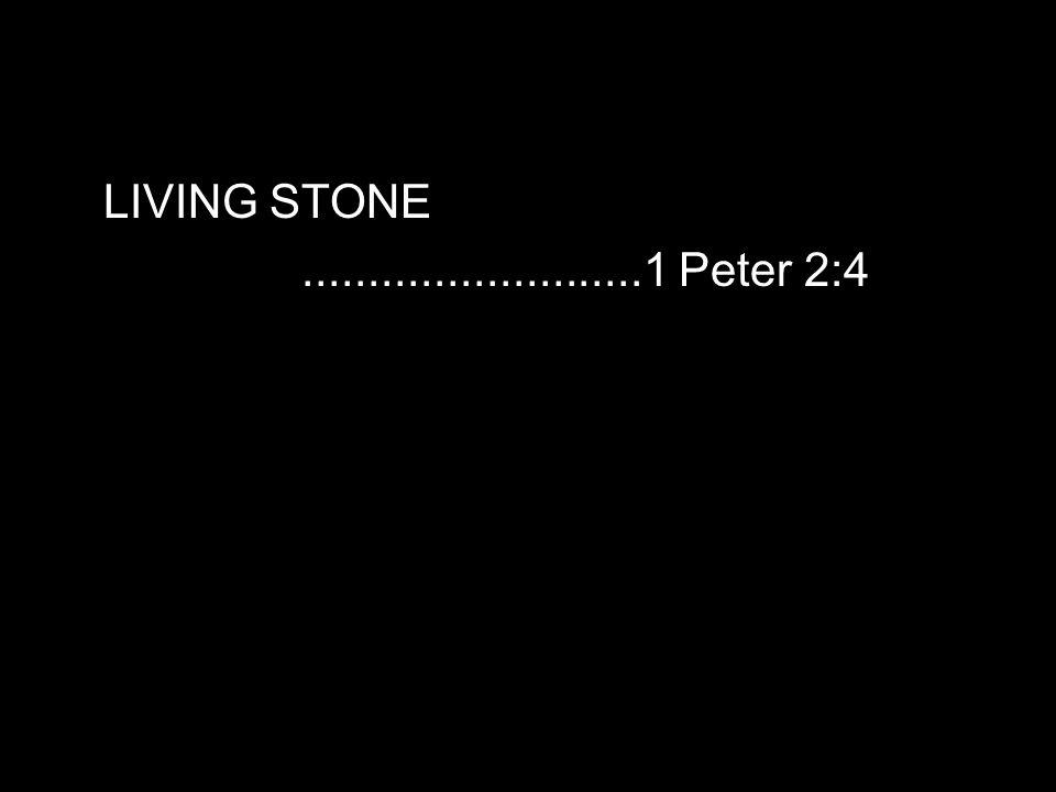 LIVING STONE..........................1 Peter 2:4
