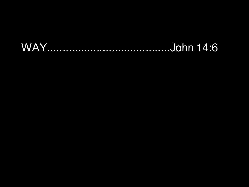 WAY........................................John 14:6