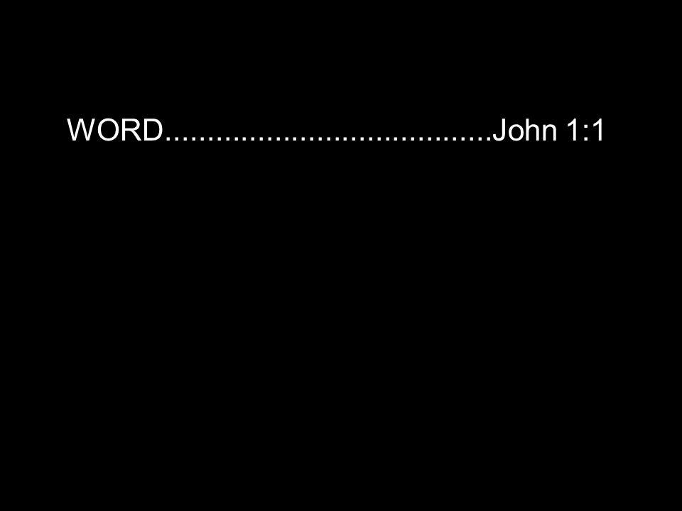 WORD.......................................John 1:1