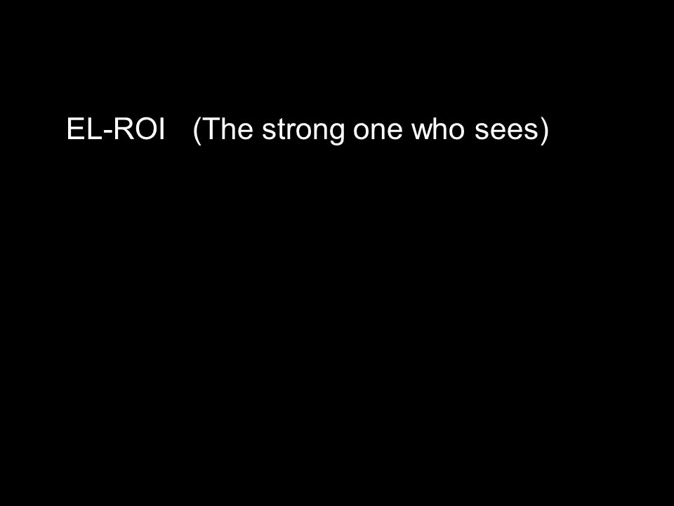 EL-ROI(The strong one who sees)