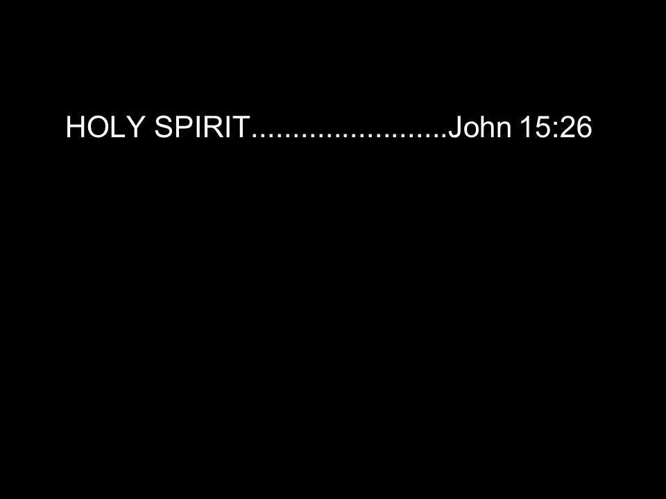 HOLY SPIRIT........................John 15:26