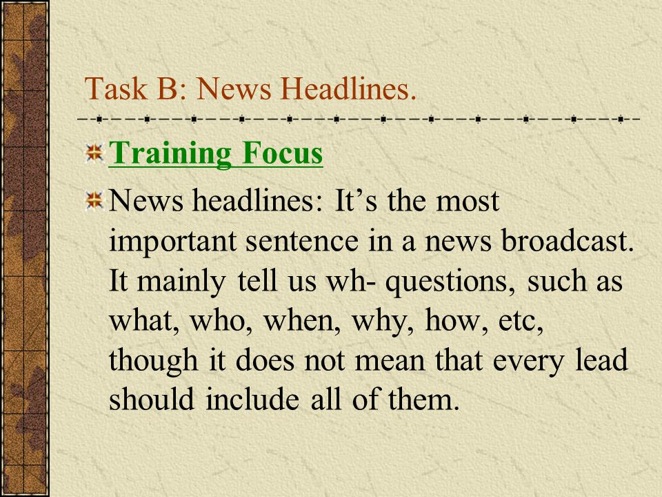 Part III Financial News Training Focus: News Summary Information about Asian Economy