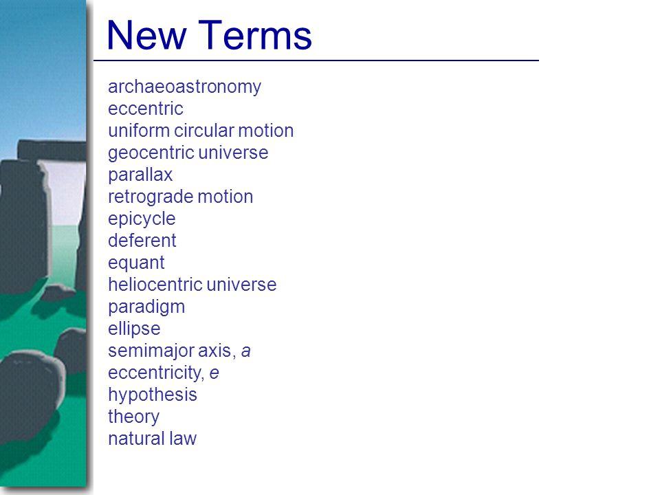 archaeoastronomy eccentric uniform circular motion geocentric universe parallax retrograde motion epicycle deferent equant heliocentric universe parad