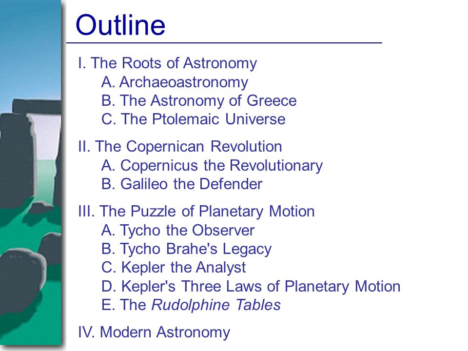 Kepler's Laws of Planetary Motion 1.The orbits of the planets are ellipses with the sun at one focus.
