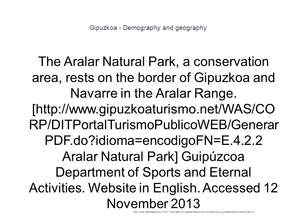 Gipuzkoa - Demography and geography 1 The Aralar Natural Park, a conservation area, rests on the border of Gipuzkoa and Navarre in the Aralar Range.