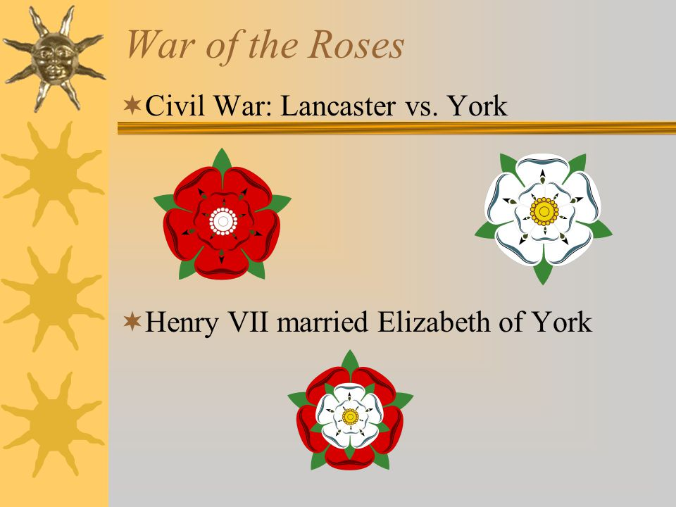 Henry VII  Cousin of Lancastrian kings  Killed Yorkist king Richard III in battle  Married Richard's niece
