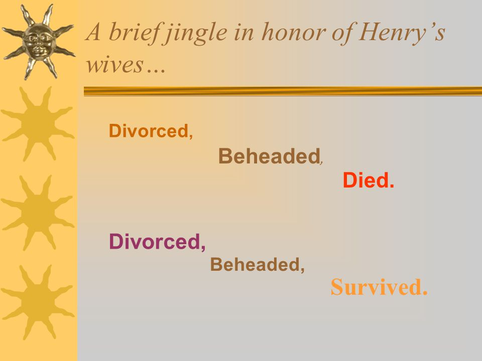 Outlived Henry!!!!.  Henry died four years into their marriage.