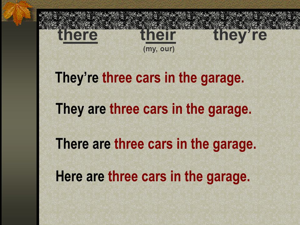 there their they're They're three cars in the garage.