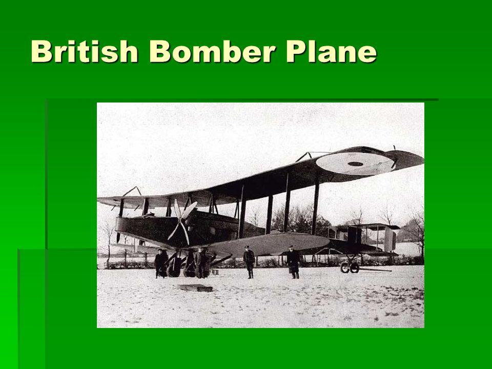 British Bomber Plane