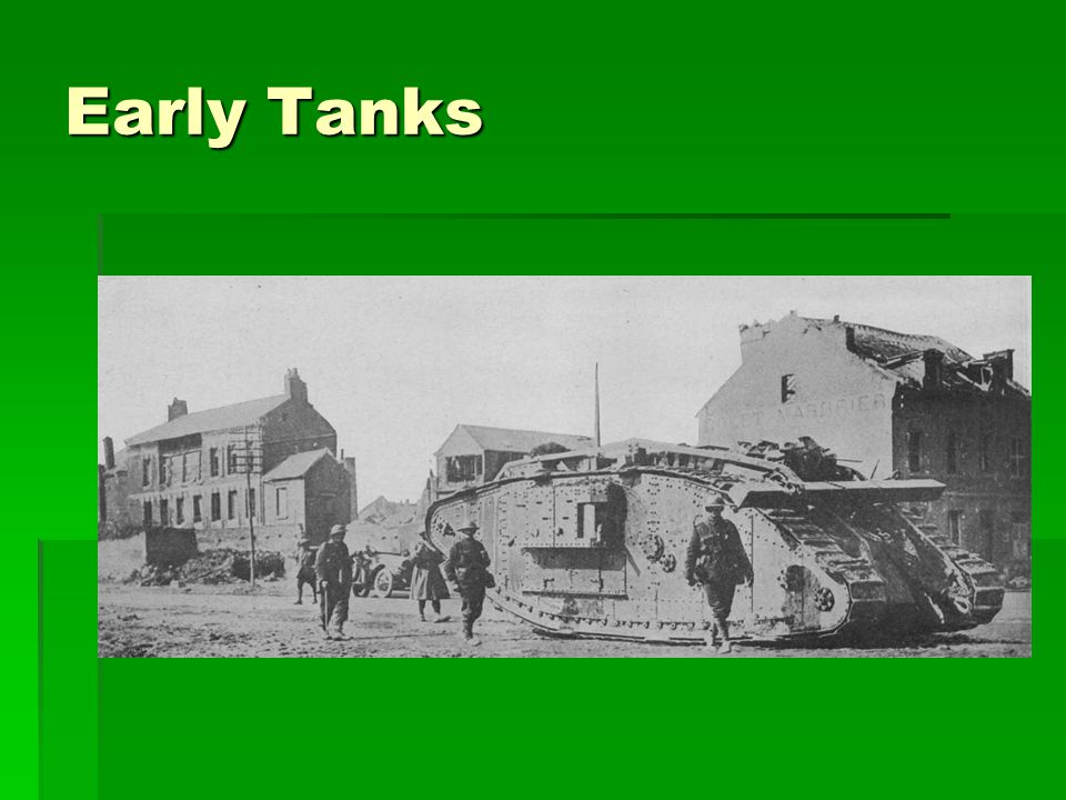 Early Tanks