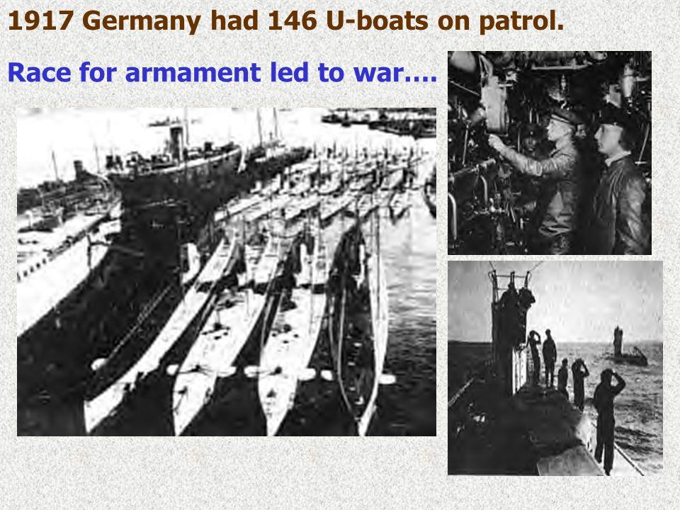 U.S. declares war: April 2, 1917 Unrestricted submarine warfare 1917Unrestricted submarine warfare 1917 –1915: sinking of British Luisitania –1917: sa