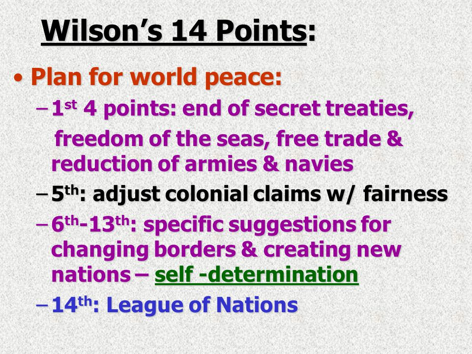 A Flawed Peace – Treaty of Versailles, Jan 18, 1919 Allies' Big Four:Allies' Big Four: –President Woodrow Wilson- U.S.