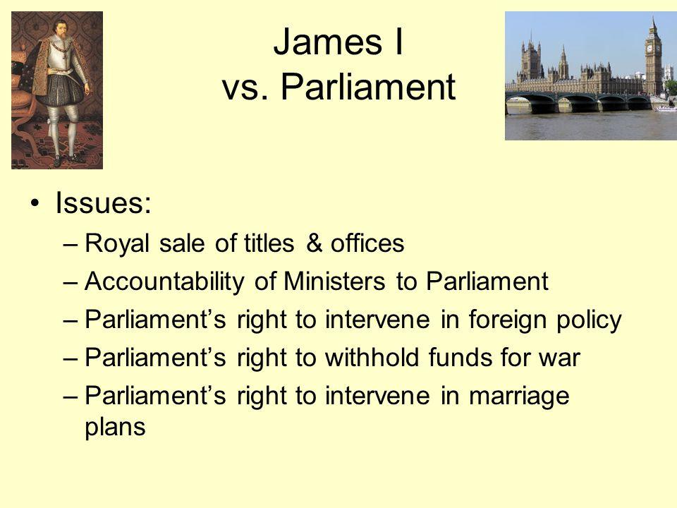 James I vs.