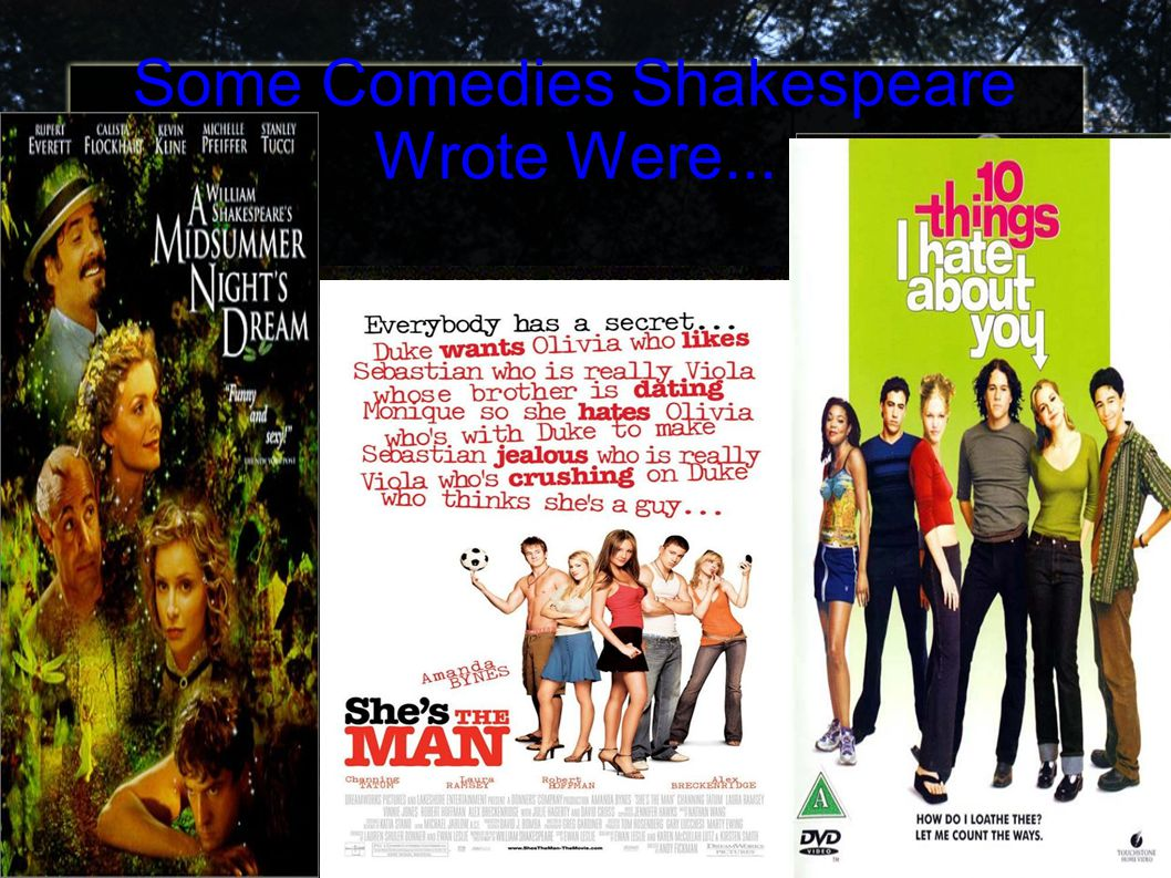 Some Comedies Shakespeare Wrote Were...